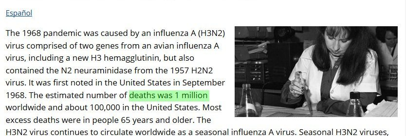 covid flu 1968